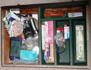 Top drawer, before